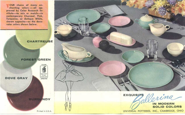 Balerina dishes advertisment