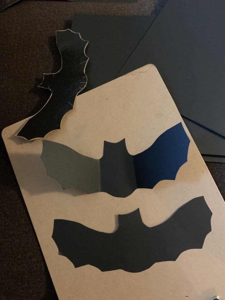 Cutting paper bats