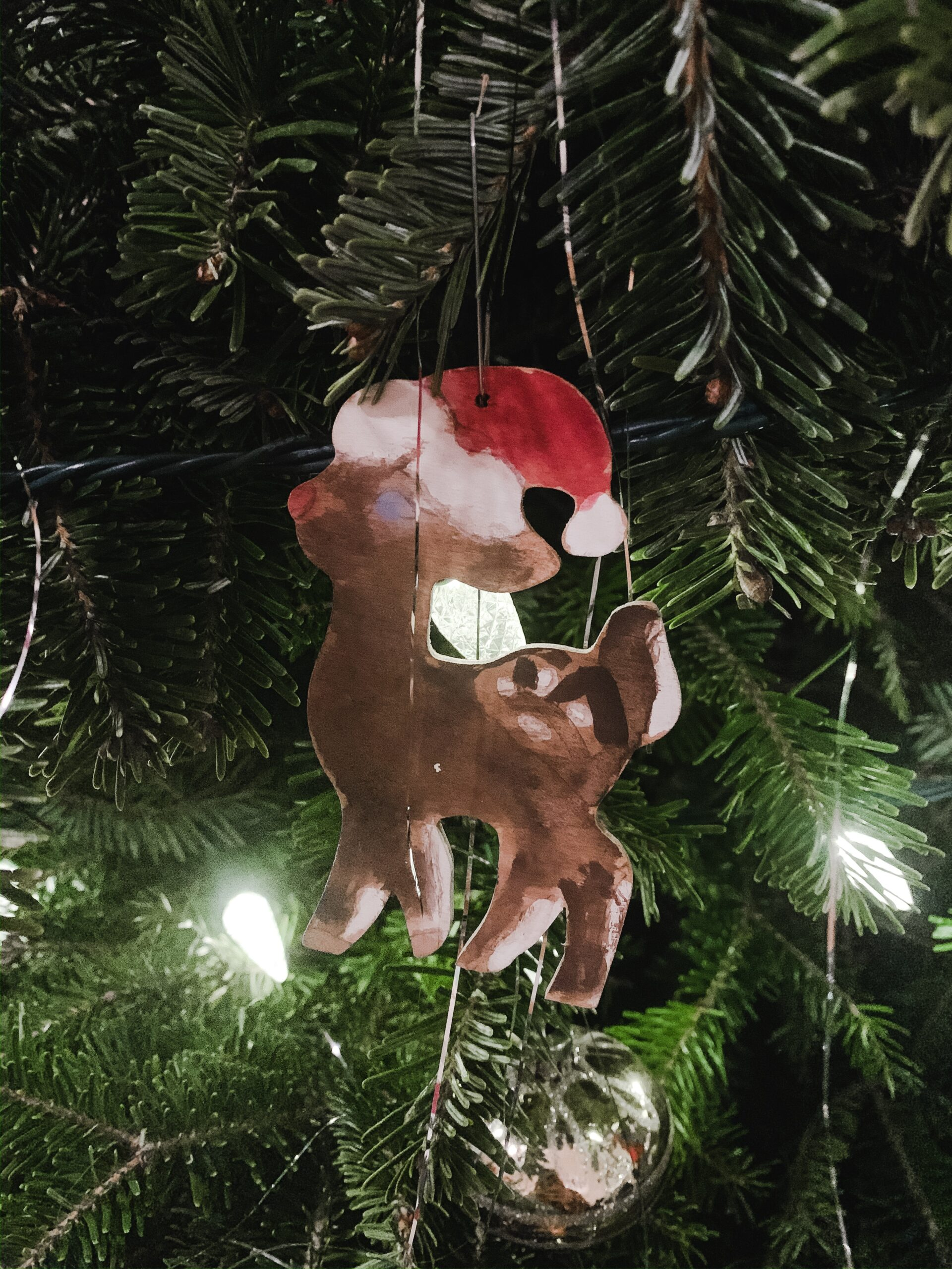 Hand painted Rudolph ornament