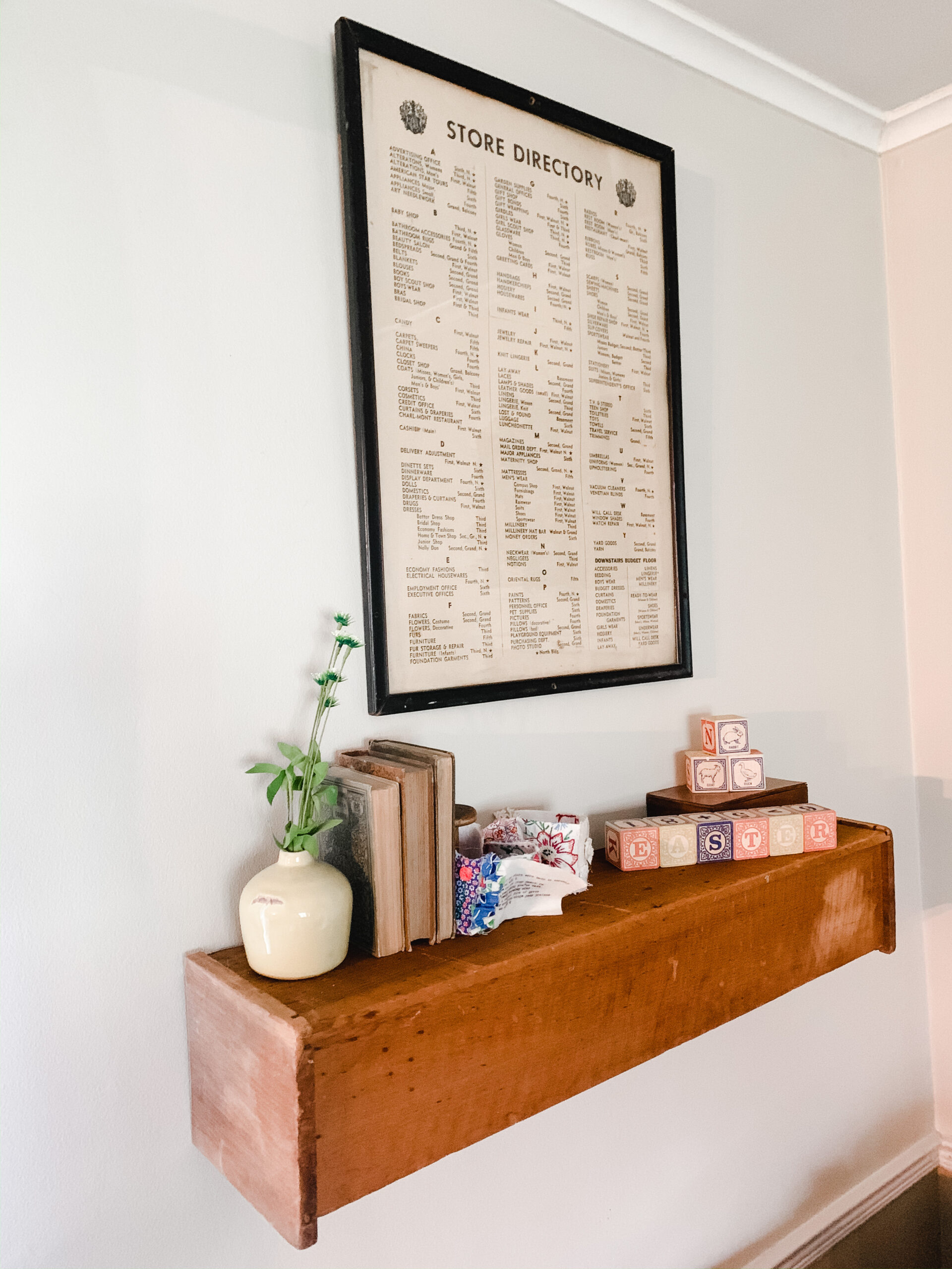 Shelf made from an old drawer